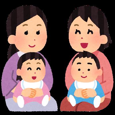 ママ&赤ちゃんイラスト